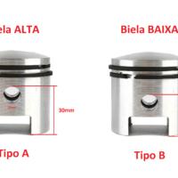 Pistão Sem Segmentos – 80cc – Biela Baixa – Tipo B
